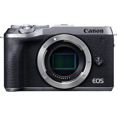 Canon EOS M6 Mark II 32.5 Megapixel Mirrorless Camera Body Only, Silver