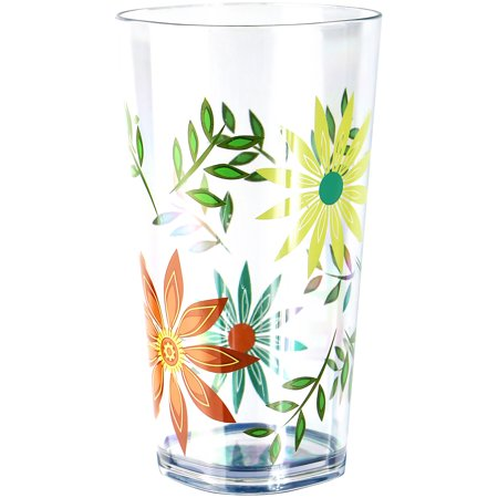 Corelle Coordinates Happy Days- 19oz Acrylic Iced-tea Glass Set of 6 ()