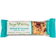 Sage Valley Almond & Coconut Honey Bar, 1.4 oz, (Pack of 12)
