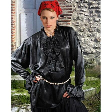 The Pirate Dressing C1035 Campbell Renaissance Shirt, Black - Small & Medium - image 1 de 1