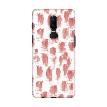 OnePlus 6 Case - Curious Canvas - Candy Maroon, Hard Plastic Back Cover, Slim Profile Cute Printed Designer Snap on Case with Screen Cleaning - Maroon Candy