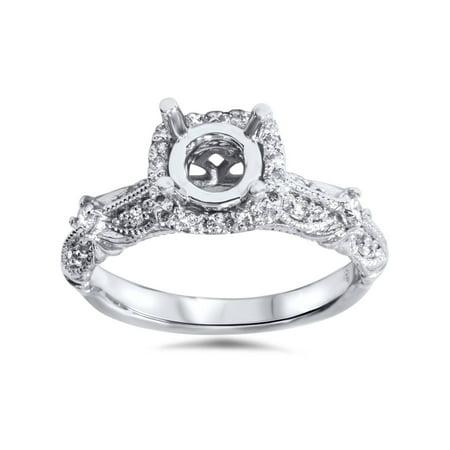 1/3ct Diamond Engagement Ring Setting 950 Platinum