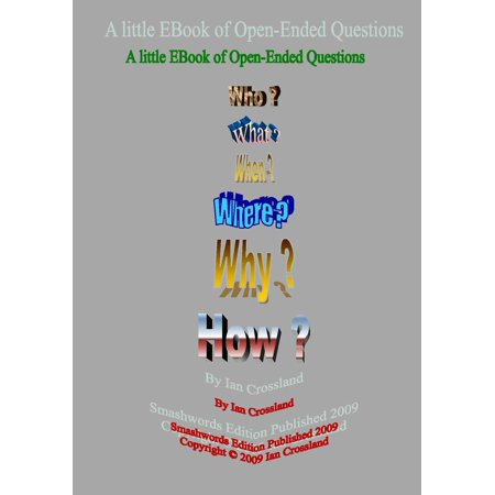 A Little EBook of Open Ended Questions - eBook