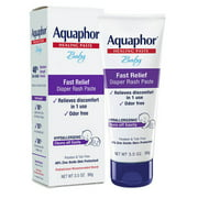 Aquaphor Baby Diaper Rash Paste, Maximum Strength 40% Zinc Oxide, 3.5 oz