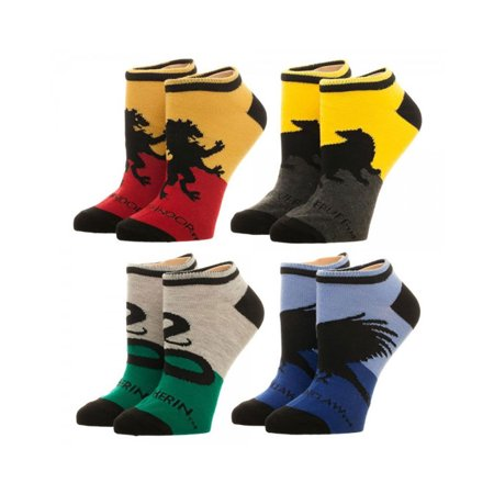Harry Potter Hogwarts House Ankle Socks 4 Pack Hogwarts House Colors
