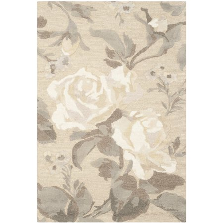 Martha Stewart Rugs Rose Chintz Hand-Loomed Bedford Grey Area Rug