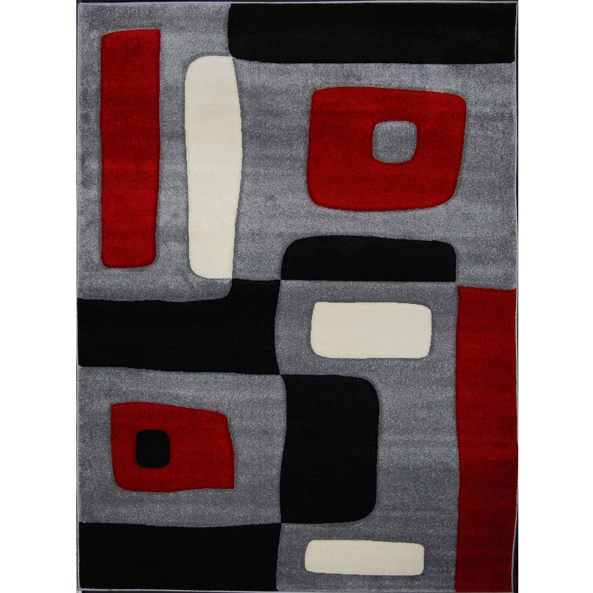 Home Dynamix Sumatra Collection Black Contemporary Area Rug Scatter, 9376D-450