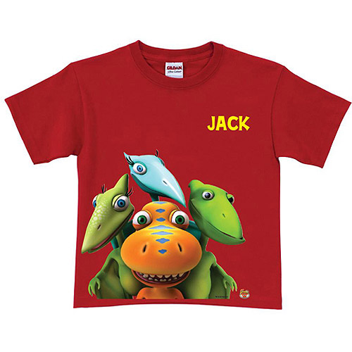Personalized Dinosaur Train Group Toddler Boy Red T-Shirt
