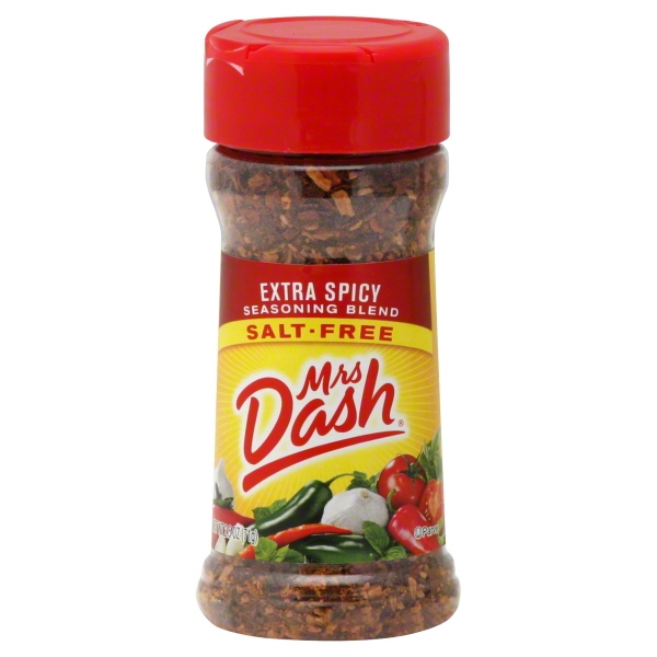 MRS DASH Extra Spicy Salt-Free Seasoning Blend 2.5 OZ SHAKER