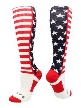 b510ee279b9 Product Image USA American Flag Stars and Stripes Over the Calf Socks  (Navy Red White