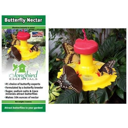 SE78215 Butterfly Feeder / Nectar Combo (Set of 1), Mount on 3/4 post or use the included coated wire to hang. By Songbird Essentials