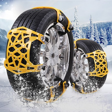 Car Snow Chains Anti Slip Tire 9 Nails Chains Tire Emergency Winter Driving Fits for Universal Cars Truck