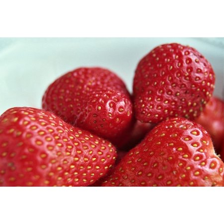LAMINATED POSTER Healthy Nutrient Fruit Red Strawberries Edible Poster Print 24 x 36