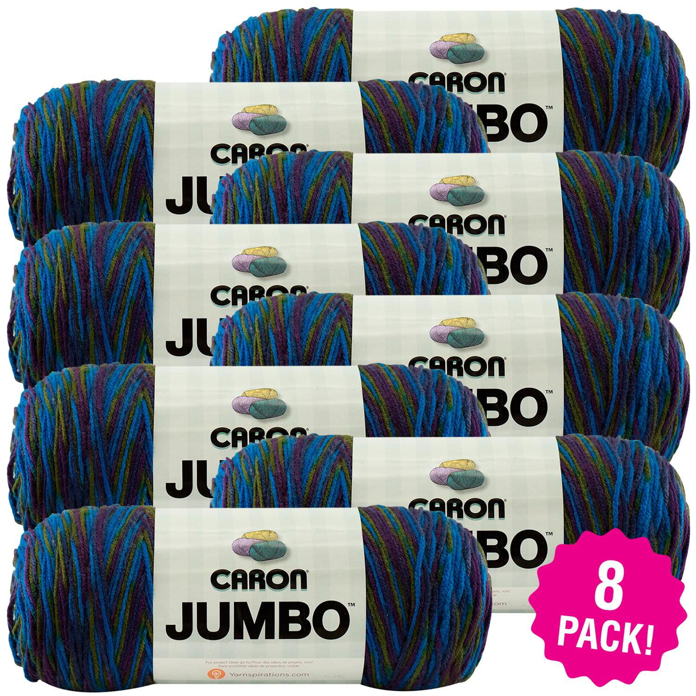 Caron Jumbo Print Yarn - Peacock, Multipack of 8