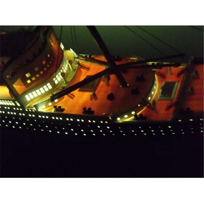 Handcrafted Model Ships QM40-Lights Queen Mary Limited 40 in. With LED Lights Decorative Cruise Ship by Handcrafted Model Ships
