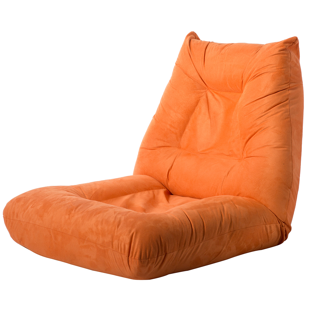 Product Image Hommoo Single Recliner Chair, Orange Adjustable 5 Position  Folding Lazy Floor Sofa Chair For