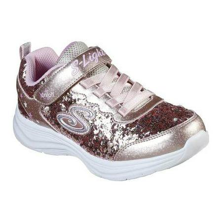 Girls' Skechers S Lights Glimmer Kicks Glitter N' Glow Sneaker (Shoes Skechers Light)