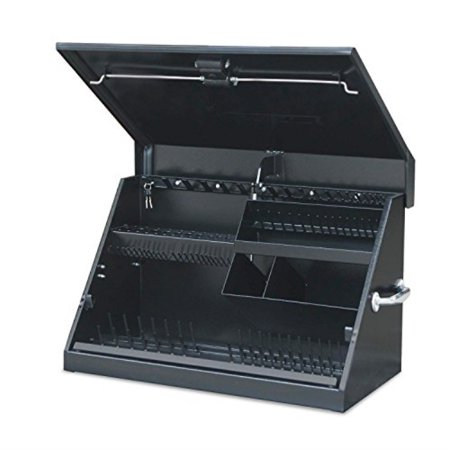 Montezuma – ME300B – 30-Inch Portable TRIANGLE Toolbox – Multi-Tier Design – 16-Gauge Construction – SAE and Metric Tool Chest – Weather-Resistant Toolbox – Lock and Latching System