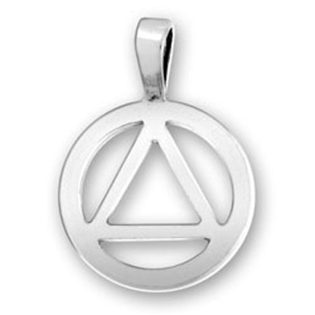 Silver Triangle Necklace (Sterling Silver 16