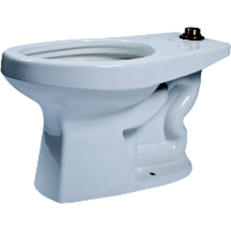 High Efficiency Commercial ADA Floor Mounted Flushometer Elongated Toilet Bowl Only Finish: (Elongated Floor)