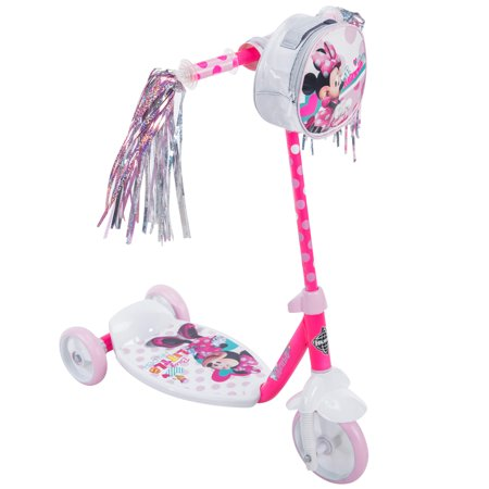 Disney Minnie Girls 3-Wheel Pink Scooter, by Huffy
