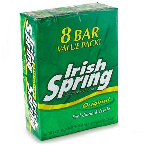 Colgate Palmolive Irish Spring  Deodorant Soap Bars, 8 ea