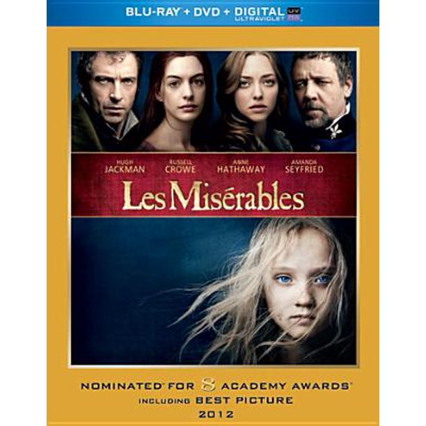 Les Miserables 2012 Blu Ray Dvd Hd Digital Copy Widescreen Walmart Com Walmart Com