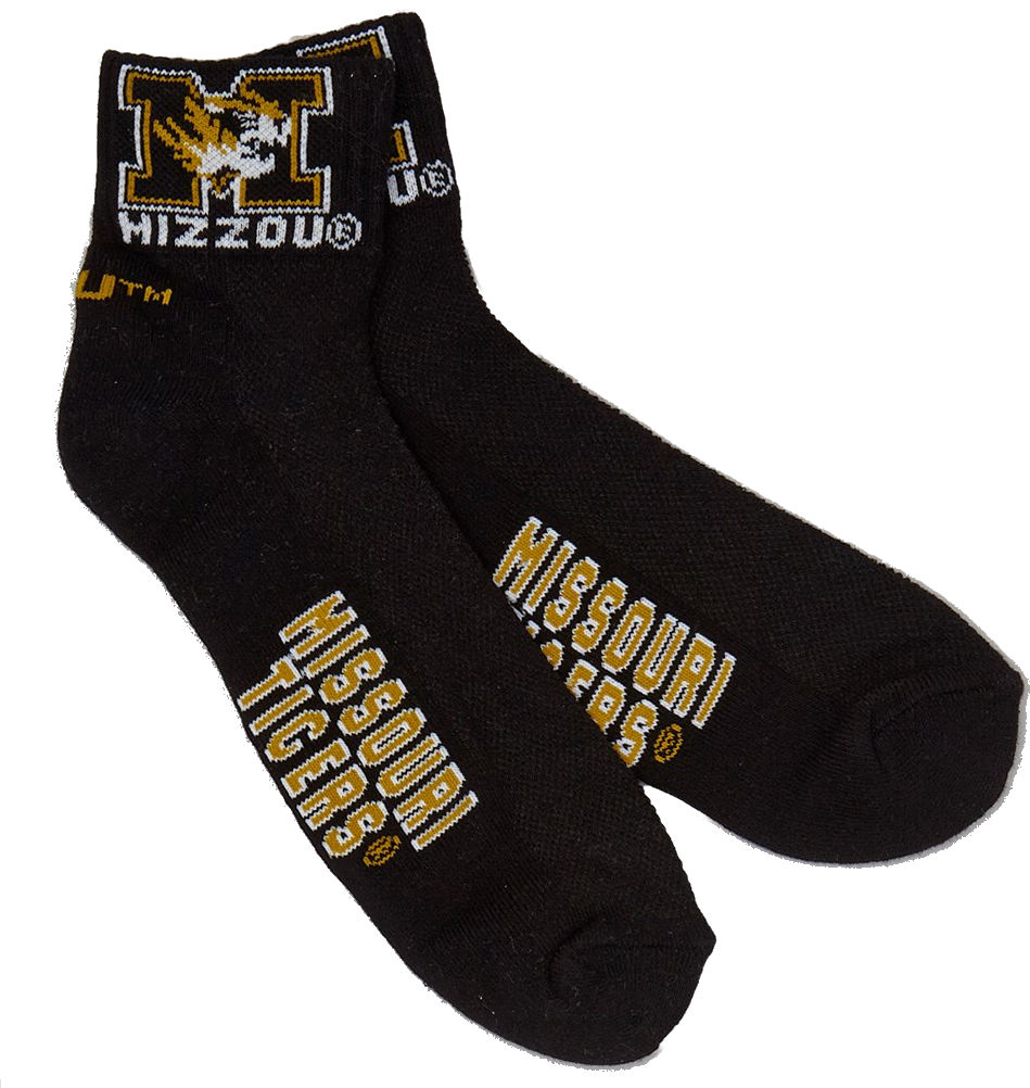 Missouri Tigers Black Quarter Sock