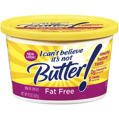 I Can't Believe It's Not Butter! Fat Free Spread, 15 oz