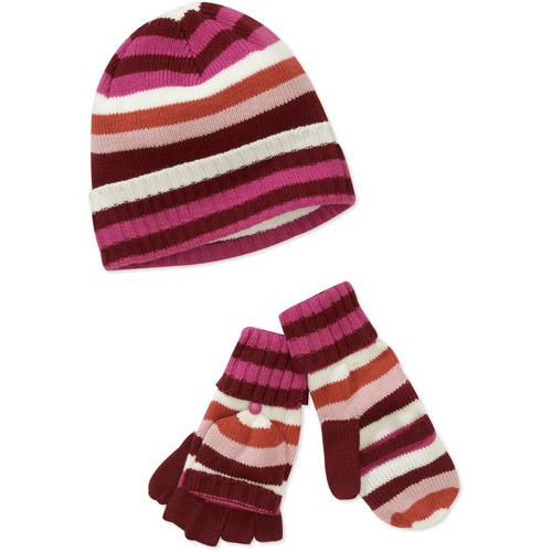 Dearfoams Women's Multi-stripe Hat And F