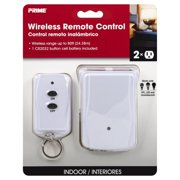Primewire 2-Outlet Wall Tap with Remote, 1-Pack