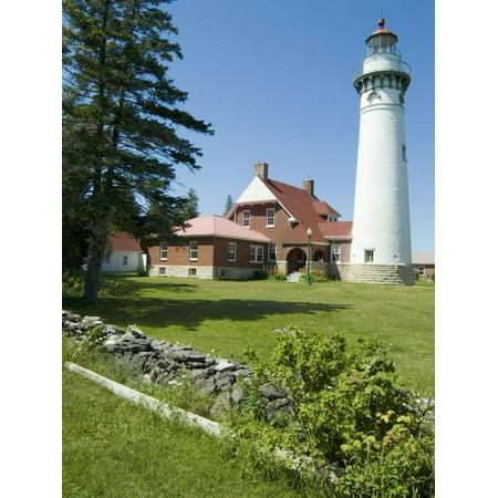 Seul Choix Lighthouse, Michigan, USA Print Wall Art By Ethel Davies