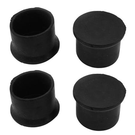 Unique Bargains 4PCS 50mm Inner Dia Furniture Chair Leg Protector Black Nonsl