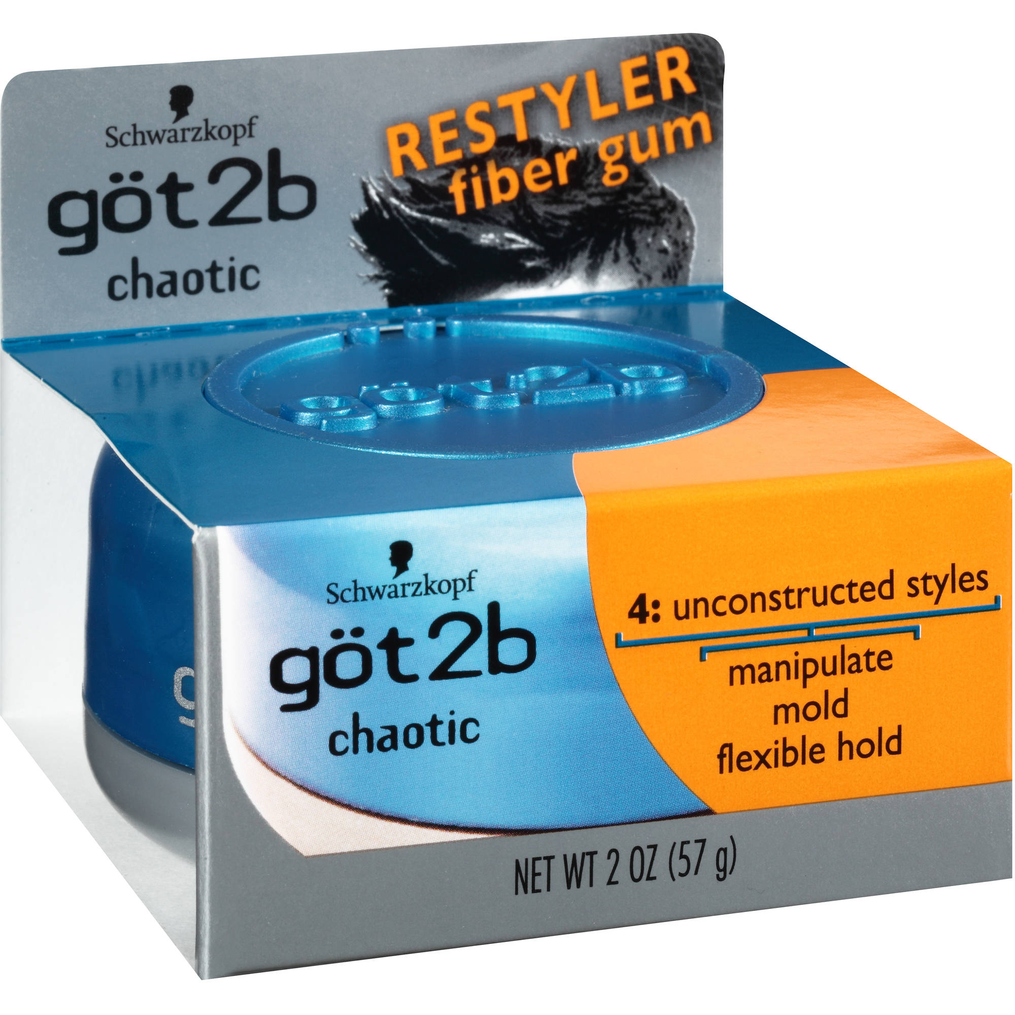 got2b Chaotic Restyler Styling Fiber Gum, 2 oz