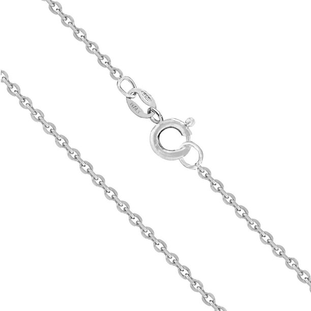 Honolulu Jewelry Honolulu Jewelry Company Sterling Silver 1mm Cable Chain 14 Quot 36 Quot 14 0 Inches Walmart Com Walmart Com