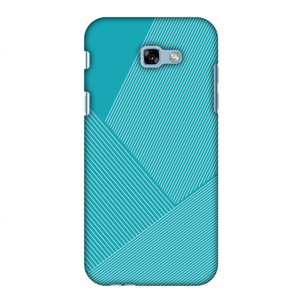 Samsung Galaxy A5 2017 Case, Premium Handcrafted Designer Hard Shell Snap On Case Printed Back Cover with Screen Cleaning Kit, Slim, Protective - Carbon Fibre Redux Aqua Blue 1