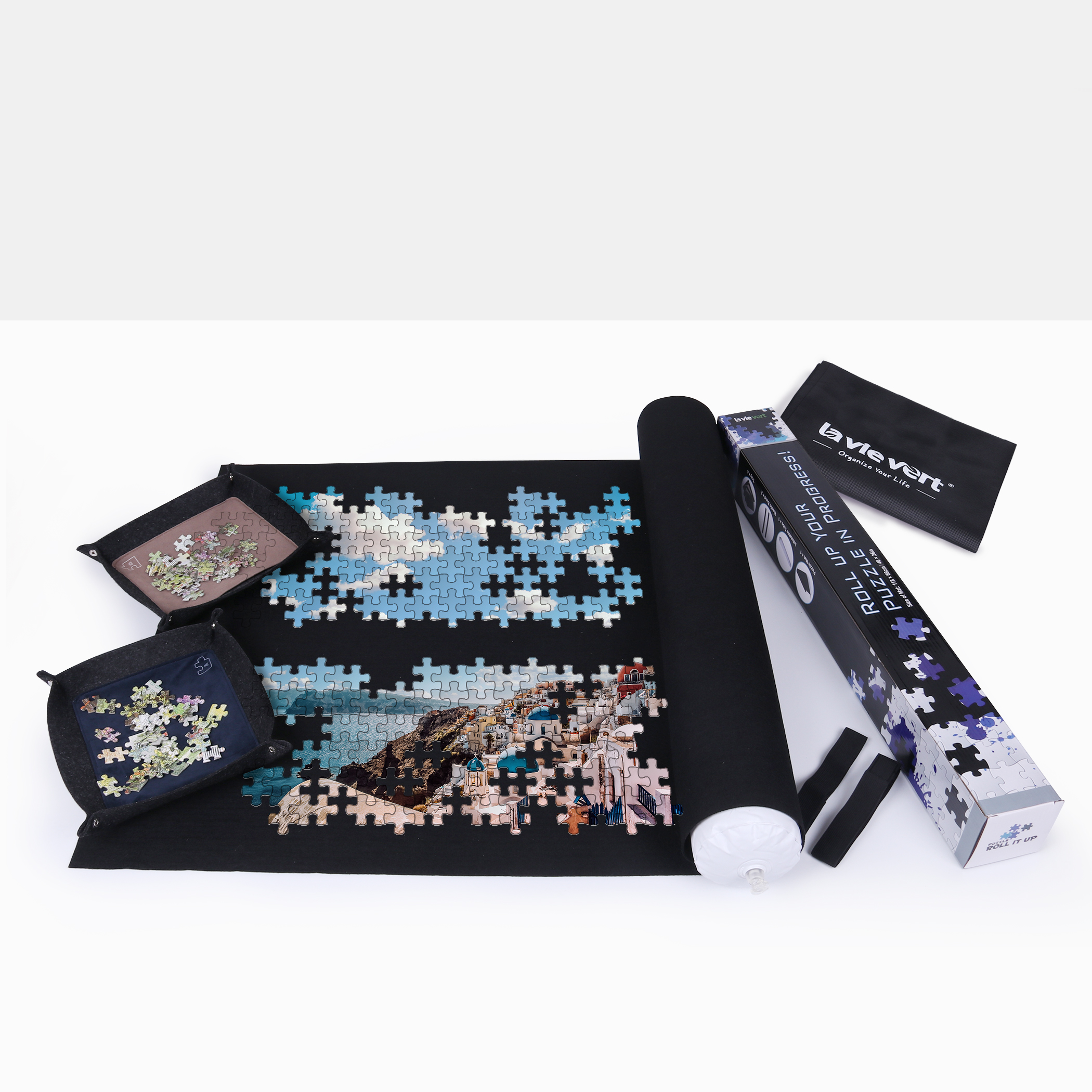Lavievert Jigsaw Puzzle Roll Mat Comes with A Storage Bag & 4 Sorting Trays by Lavievert