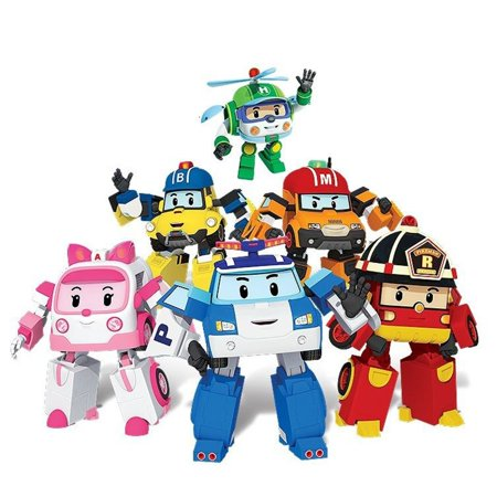 Robocar Poli Transformation Robot Poli Amber Roy Car Toys Action Figure Toys - image 4 of 4