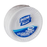 """Dixie Basic 6"""" Light-Weight Paper Plates, DBP06W, 1,200 Count"""