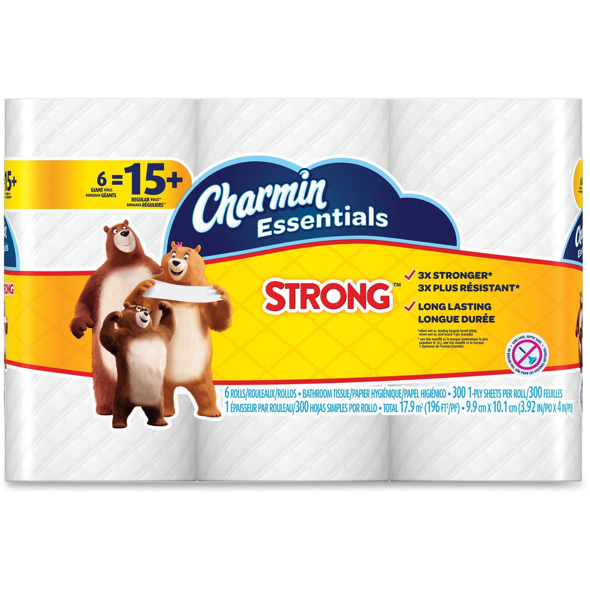 Charmin, PGC96892, Essentials Strong Bath Tissue, 1800 / Pack, White
