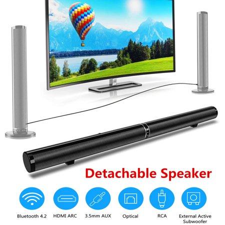 TV Sound Bar 50W Wireless Sound Box Detachable Speaker 3D Stereo Surround Home Theater Soundbar with Remote