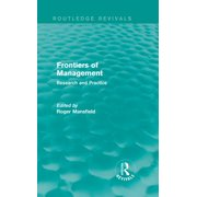 Frontiers of Management (Routledge Revivals) - eBook