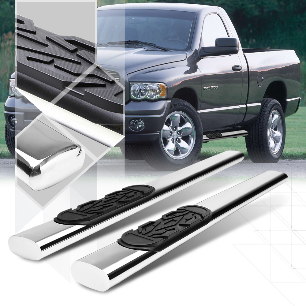 "Chrome 6""Oval Side Step Nerf Bar for 02-09 Dodge Ram 1500/2500/3500 Standard Cab 03 04 05 06 07 08"