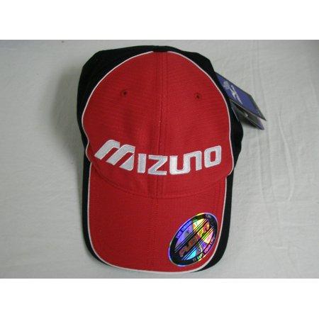 Mizuno FlexFit Contrast Hat (Red Black) Fitted Golf Cap NEW - Walmart.com 0cc57c8739d