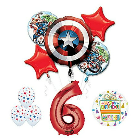 The Ultimate Avengers Super Hero 6th Birthday Party Supplies - Super Hero Supplies