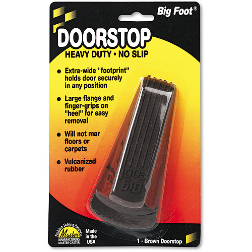 Master Caster Big Foot No-Slip Rubber Wedge, Brown