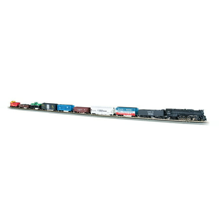 Bachmann Trains Empire Builder Electric Train Set w/ Scenery, N Scale |  24009-BT