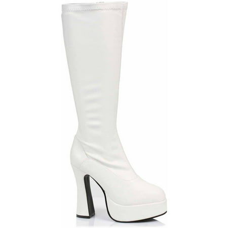 ChaCha White Boots Women's Adult Halloween Costume Accessory - White Gogo Boots Size 6