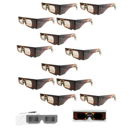 Solar Eclipse Glasses   Iso Certified  Ce Approved   12 Pairs Sleeved   Burning Sun   Solar Shades