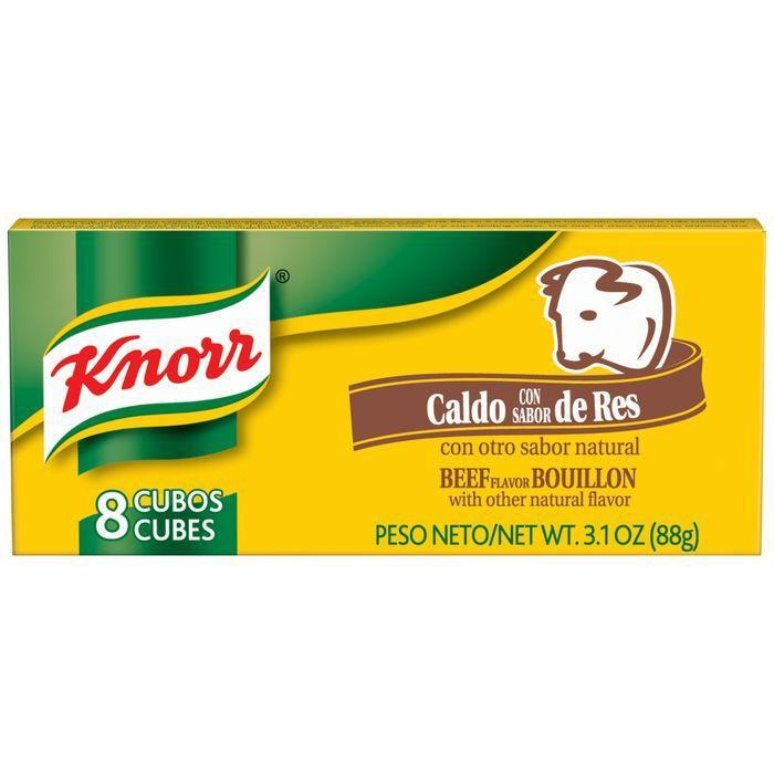 Knorr Hispanic Beef Cubes Bouillon 3.1 Oz (Pack of 24)